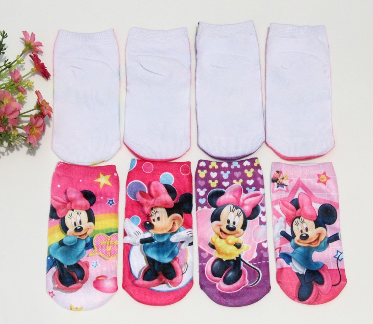 2016 Wholesale Free shipping 1 pairs high quality cotton cartoon children socks girls kid at factory prices cartoon socks BS08