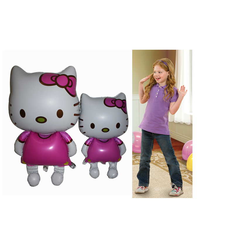 2pcs,Metallic Aluminum Foil Human Size Hello Kitty, for Sisters or Mother & Girl Balloon Ballons Toy(China (Mainland))