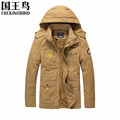 2016 autumn and winter Men s jackets military Air Force flight jacket Plus velvet Thicken Hooded