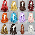 16 Colors Ariel Cosplay Wigs Princess Free Cap Long Wavy Curly Lolita Wigs Blonde Pink Peruca