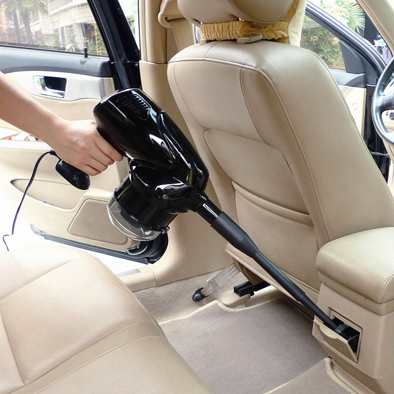 Brand New 100W Super Suction Mini 12V DC AUTO High-Power Wet and Dry Portable Handheld Car Vacuum Cleaner Black Free Shipping(China (Mainland))