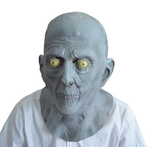 Halloween Terror Mask Old Man Elderly Bald Latex Mask Fancy Dress