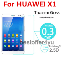 0.3mm Premium Tempered Glass For Huawei Honor Mediapad X1/X2 7″ Arc Edge Round Border Film Screen Protector Film Free Shipping