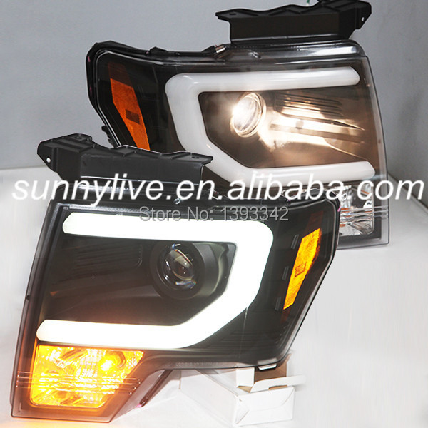For FORD F150 Raptor 2008 TO 2012 Head Light Black Color SN(China (Mainland))