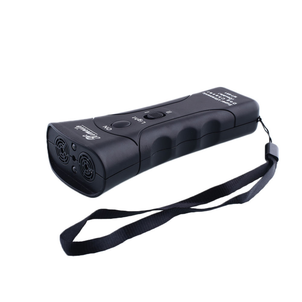 New Pet products High Power Multi Function Anti Barking Stop Bark Ultrasonic Dog Trainer With LED Light