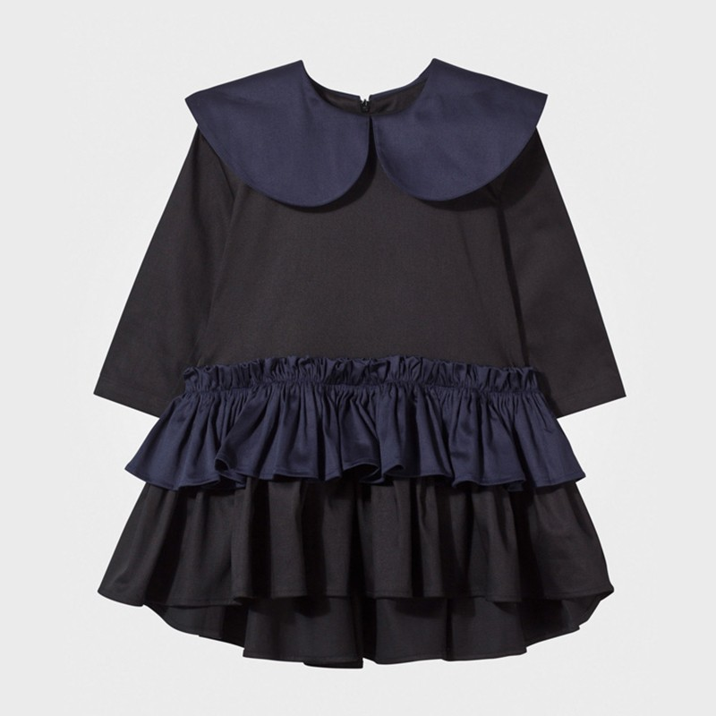 Tongchuang 2016 new quick sell through the bursts of clothing dress Europe and the United States children's wear baby neck dress(China (Mainland))