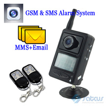 Wireless GSM & MMS Home Alarm System with a motion PIR CMOS camera, support Mobile Phone Remote Control SC-100(China (Mainland))