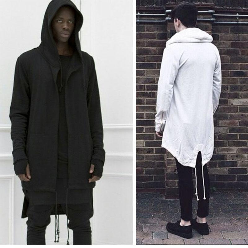 Men hoodies Hiphop Clothes Mens Hoody Sweatshirt Zipper long Sleeve cardigan Spring Autumn Black Cloak Hooded Sport Outerwear(China (Mainland))