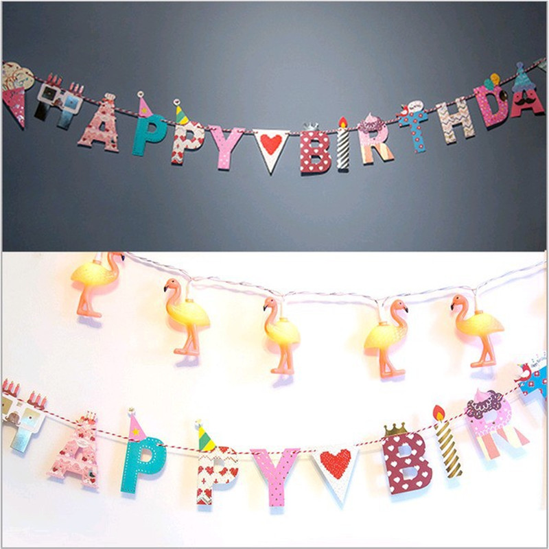 Happy Birthday Alphabet Colored Flags Birthday Party Pennant Recycled Paper Decoration Party Queen Pull Flower Banner 6505203(China (Mainland))