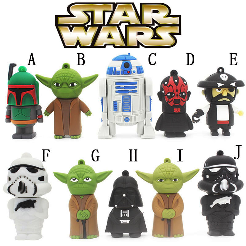 Promotion! Star wars usb flash drive 2gb usb stick 4gb pen drive free shipping flash cards 8gb USB 2.0 16gb pendrive U disk gift(China (Mainland))