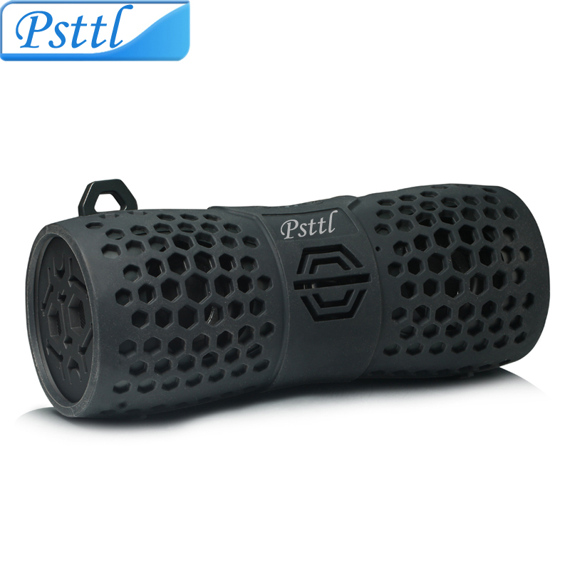 Psttl Waterproof Wireless Speaker, Outdoor Wireless Music Speaker (IPX6 Waterproof,Built-In Mic For Hands Free)-Black(China (Mainland))