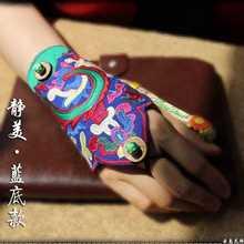 Vintage ethnic embroidery Wrist Bracer Cuff for women autumn spring winter boho hippie original WRISTGUARD wristlet(China (Mainland))