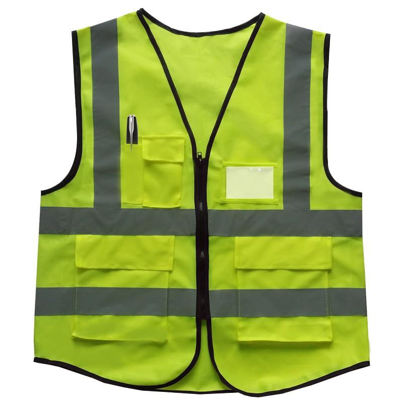 Сигнальный жилет жилет куртка безопасности отражающий слой передач зеленый