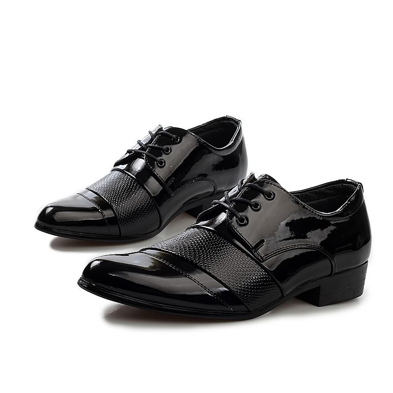 2015 men's leather shoes polo crime lace-up shoes flat shoes and wedding shoes business Free shipping