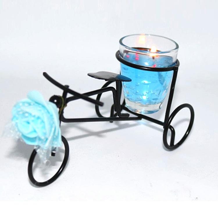 Hot Sale Originality IRON Bicycle Candle Jelly Wedding