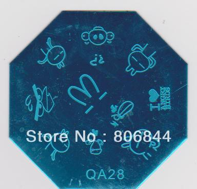 QA01-30 Blue Moud Stamping Nail Plate Mix Design Image Plate For Beauty Nail Care 900PCS#336<br><br>Aliexpress