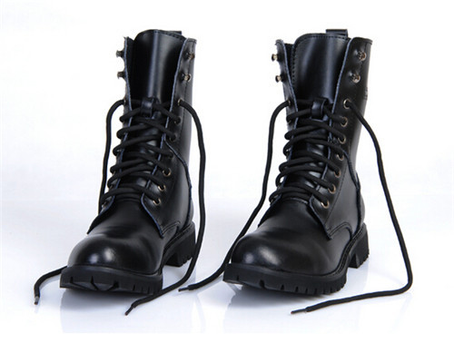 2015 Autumn Winter Punk England New Mens Combat Leather Lace Military Motocycle Ankle Boots Shoes Plus Size EUR38-45 - Shop639677 Store store
