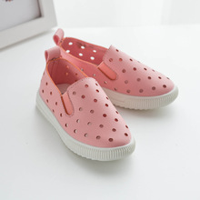 Summer Unisex Leather Flat Air Hole Boys Girls Kids Baby Shoes(China (Mainland))