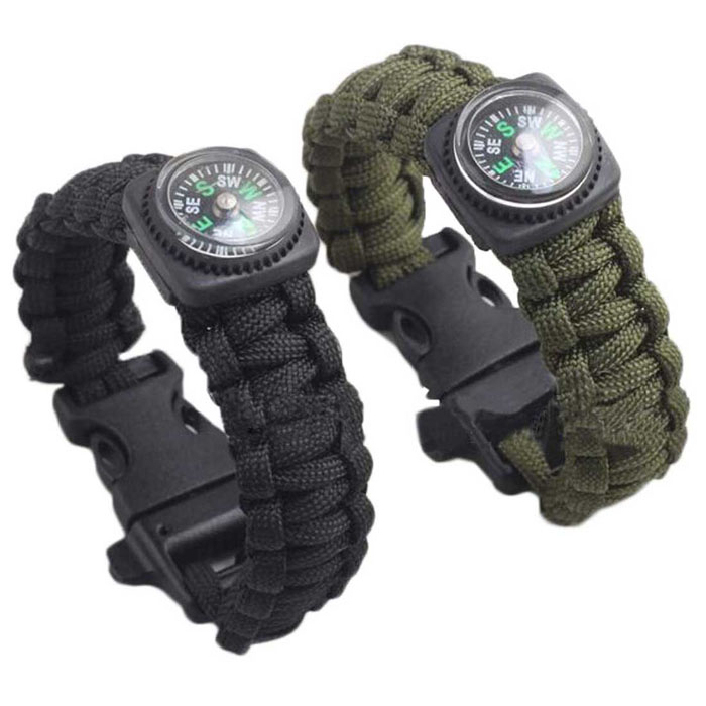 Гаджет  Attractive New Outdoor Self-rescue Parachute Cord Bracelets Compass Survival Camping Travel Kit None Спорт и развлечения