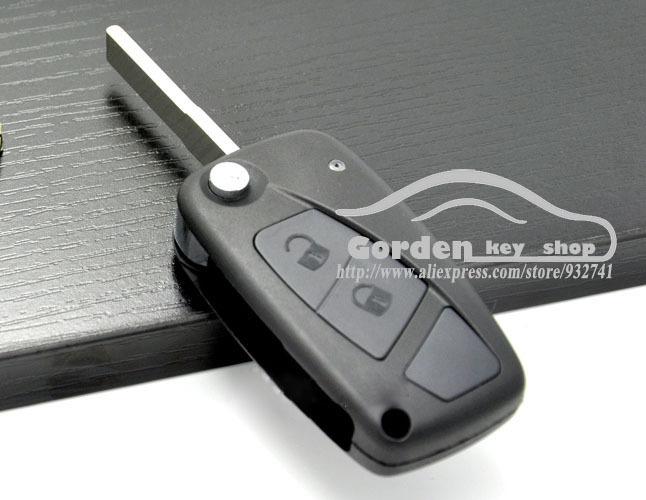 2 Buttons Remote Flip Folding Key Shell Case For Fiat Bravo Punto Brava Panda Stilo Ducato in Black(China (Mainland))