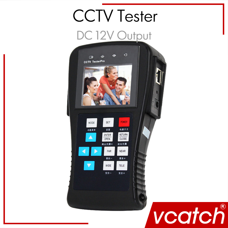 Vcatch CCTV Tester 2.8 inch TFT LCD Power Output Portable Security Video Camera Cable Controller - Shenzhen Co., Ltd store