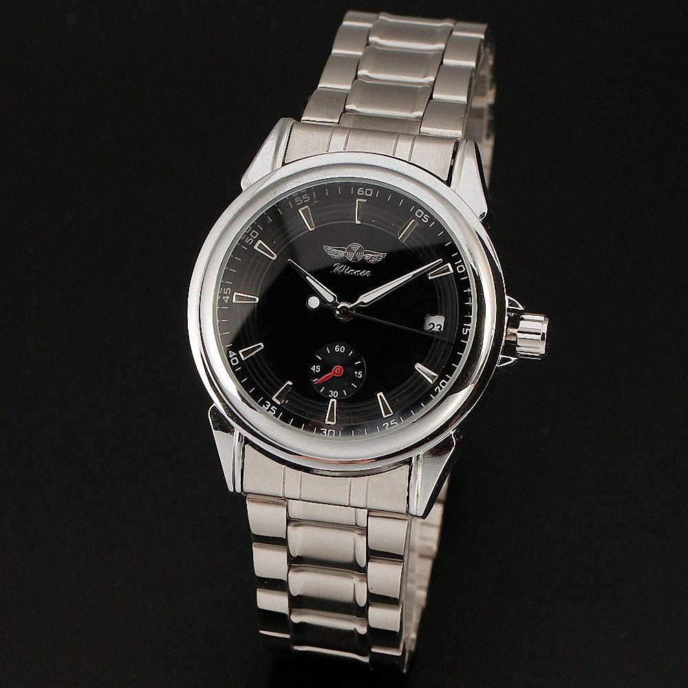 Победитель деловых зрелых мужской механические наручные часы из нержавеющей - стальной ленты нет числа ж / Box