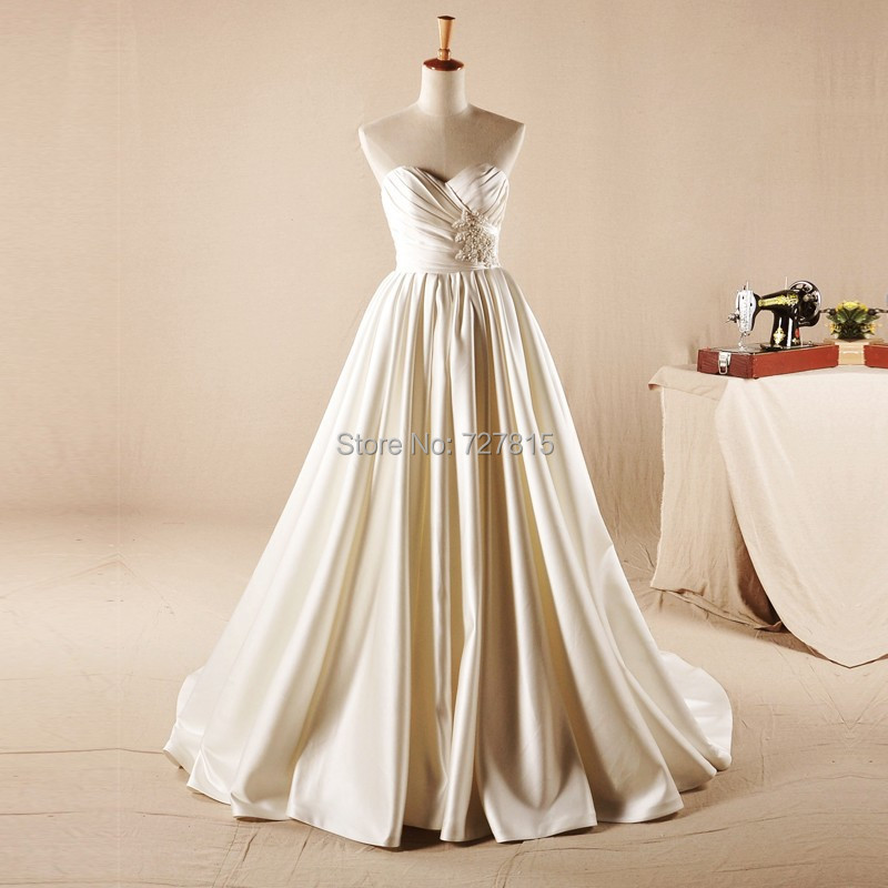 Real Picture Cheap Wedding Dresses Under 100 Ball Gown