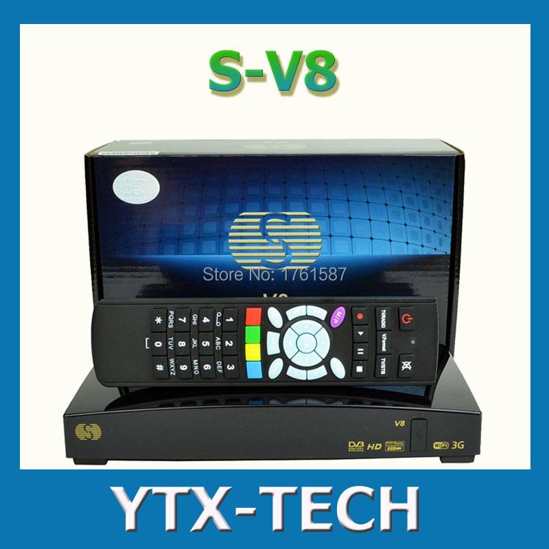 Original S-V8 1080P FTA satellite tv receiver Support youtube card sharing Web TV Weather Forecast S V8 Openbox V8s(China (Mainland))
