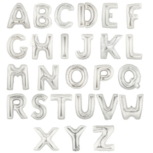 1pc 16inch Silver A~Z letter 26 alphabet balloon for your choose(China (Mainland))