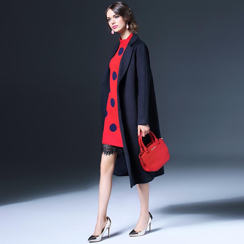 2015 European and American fashion new winter coat sleeve raglan sleeve windbreaker jacket female high Q155115