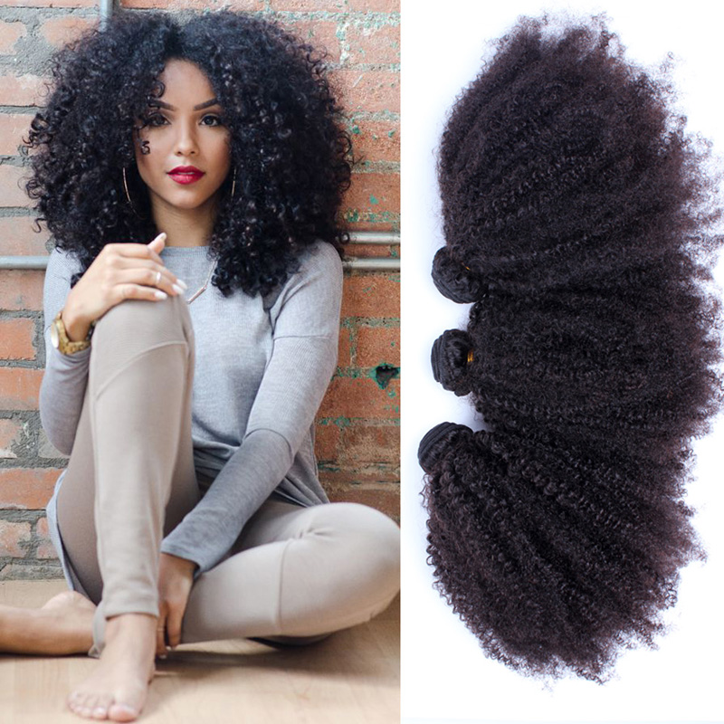 6A Mongolian afro kinky curly hair weaves 3pcs unprocessed kinky curly virgin hair extensions rosa hair products natural black