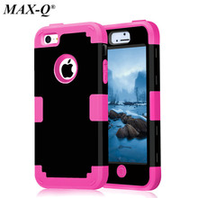 Buy MAX-Q iPhone 5c Shockproof Dual Layer Defender Case silicon + Hard Plastic 3 1 Heavy Duty Armor Hybrid Phone Cover for $2.99 in AliExpress store