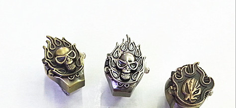 Anime death mask table alloy ring ring watch death animation(China (Mainland))