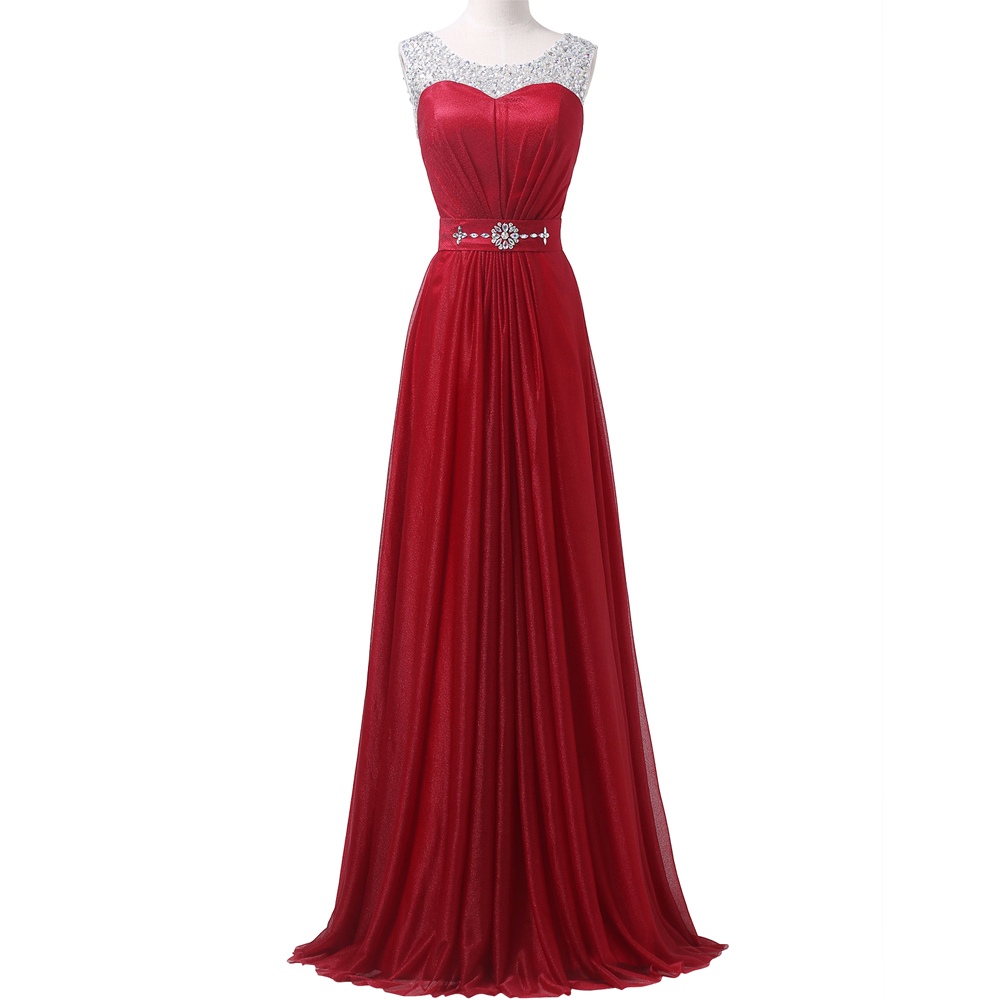 Wholesale Red Color A Line Floor Length Long Maxi ...