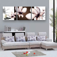 3 Piece  framework  Cheap abstract Modern Wall Painting Transparent flowers Home Decorative Art Picture Paint on Canvas Prints