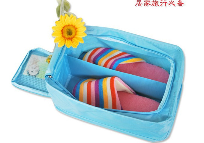 Hot Sale 2015 New fashion Nylon & Mesh Travel Portable Tote Shoes Pouch Waterproof Storage Bag 4 colors Choose(China (Mainland))