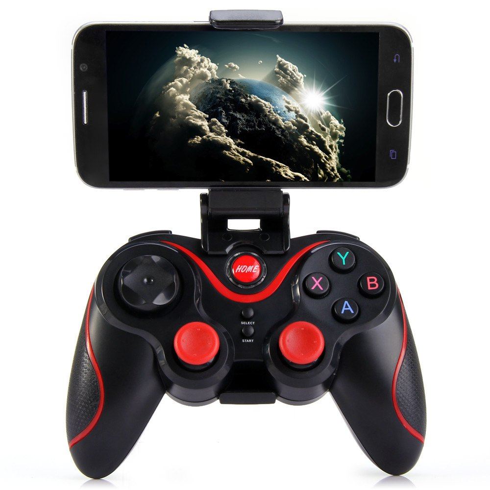 2016 New Wireless Joystick Gamepad Gaming Controller Remote Control BT 3.0 for Mobile Phone Tablet PC TV Box Holder Included(China (Mainland))