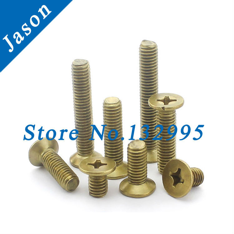 M6*8   Brass Machine Phillips Flat Head Screw / Brass flat head screw M5*L<br><br>Aliexpress