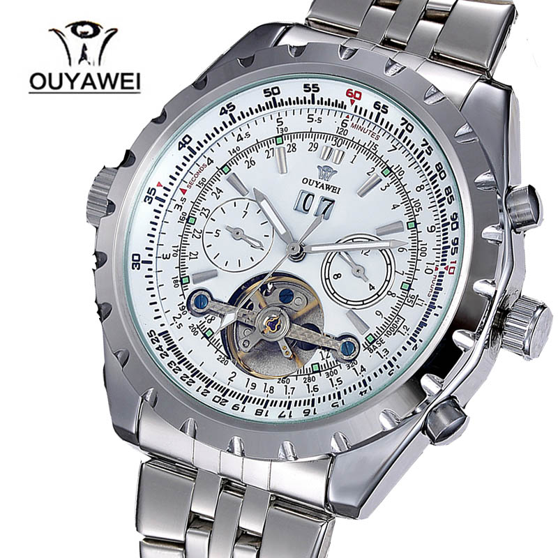 Top Brand OUYAWEI Men Mechanical Military Watches Full Stainless Steel Mans Casual Watches Relogio Masculino <br><br>Aliexpress