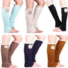 Fashion Womens Lace Leg Warmers Rose Flower Knit Boot Cuffs Winter Women Long Boot Socks Ladies Sexy Legwarmers Boot Topper(China (Mainland))