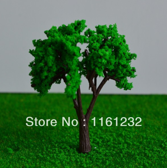 2014 Hot selling 100mm Miniature Architectural Model Tree plastic artificial green pine tree<br><br>Aliexpress