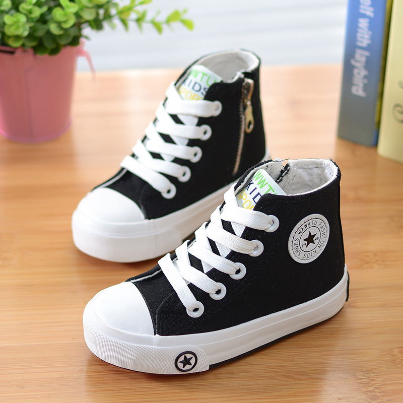 4 Color children casual shoes 2016 new spring summer brand kids canvas shoe boy girls red breathable basket femmes en toile
