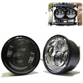 One pair 80W motorcycle Headlamp for Harley LED Daymarker Dyna Fat Bob Dual Headlight