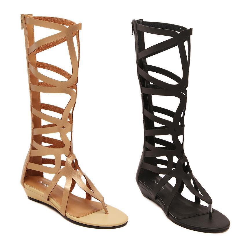 Women Sandals Genuine Leather 2015 Shoes Woman Sandals Gladiator Sandals Women Flip Flops Women Shoes sandalias sapato feminino(China (Mainland))