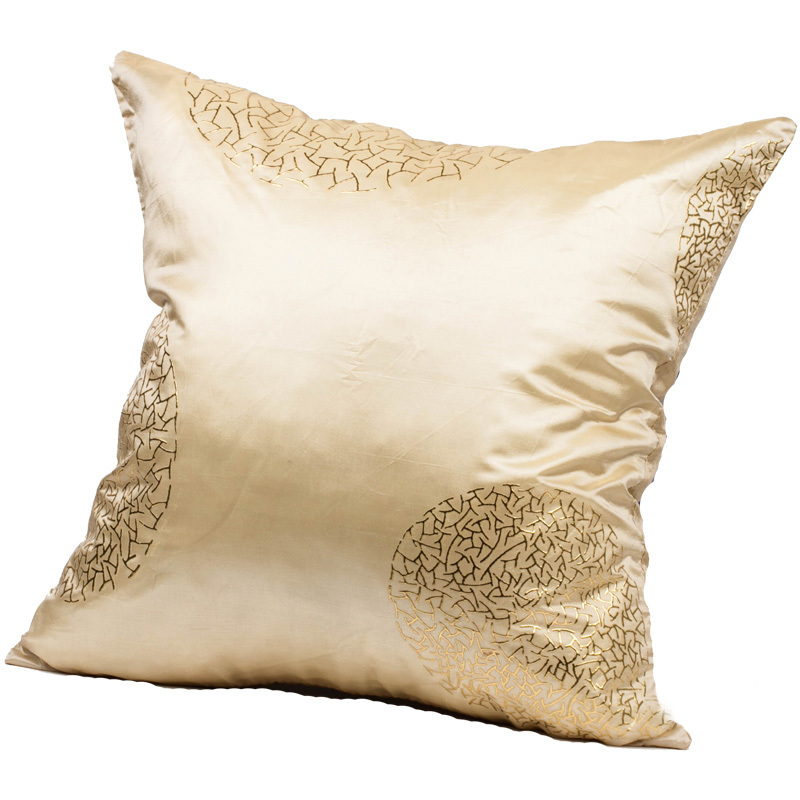 How To Make Decorative Throw Pillow Covers : wholesale Beige Taffeta/Faux Silk Decorative Cushion Covers Throw Pillow Cases BN 18