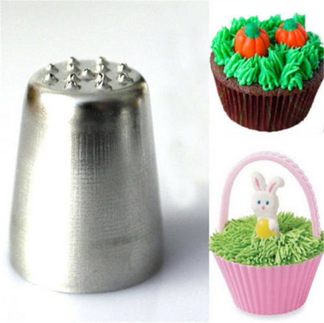 Cake Decorating Tip To Make Grass : 2015 Fashion Grass Hair Icing Piping Nozzle Cake Cupcake ...