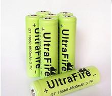 High Quality 2pcs flat ultrafire 18650 rechargeable battery 8800mah li-ion bateria 3.7v batteries for Led flashlight mod free