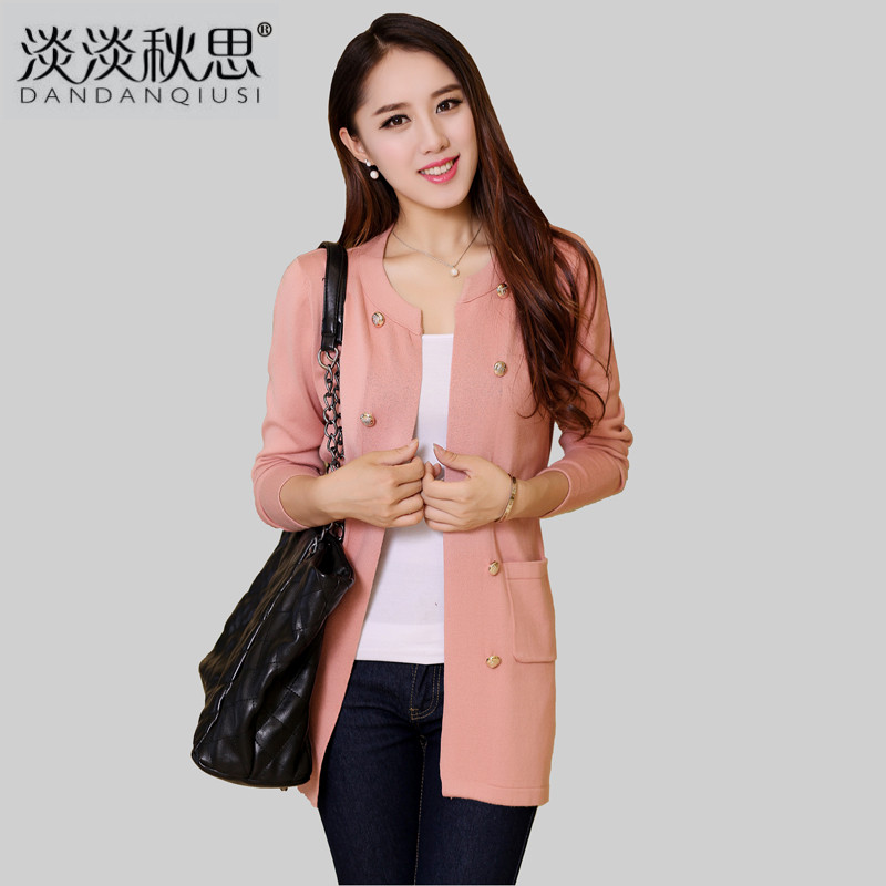 2013 autumn Women knitted sweater outerwear long-sleeve slim medium-long cardigan winter - Caiba fashion store