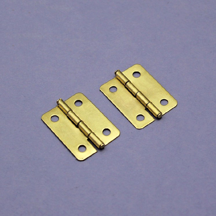 Free Shipping, 2.5 x1.9cm Small Brass Hinge Miniature Hinge Mini DIY Crafts Woodworking Model Hardware Fittings(China (Mainland))
