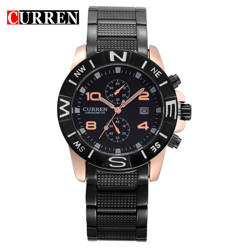 Full Stainless Steel Men Brand CURREN Watch Male Fashion Casual Quartz Watches Auto Date Analog Display Sport Wristwatches Xfcs - Wemwatch Store store